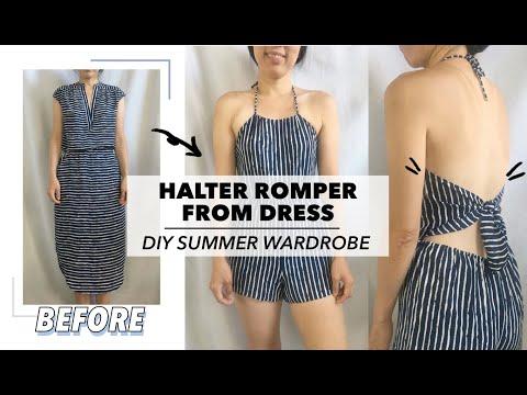 Halter Romper From Dress