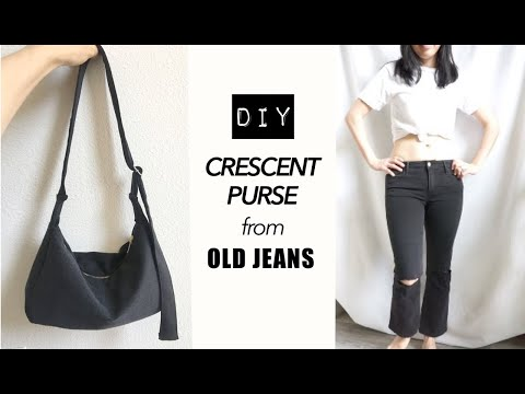DIY Crescent Purse From Old Jeans (With Matching Coin Pouch!)