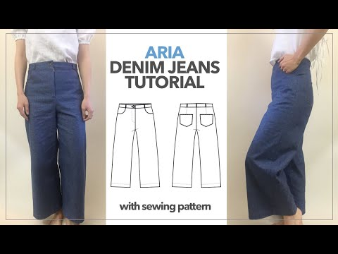 Ari Denim Jeans Tutorial | DIY High Waist Wide Leg Jeans