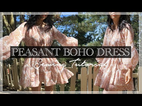 Maisey Dress Tutorial | DIY Peasant Boho Tunic Dress