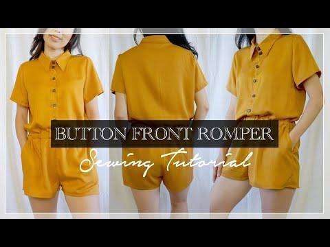 Joelle Romper Tutorial | DIY Button Front Romper