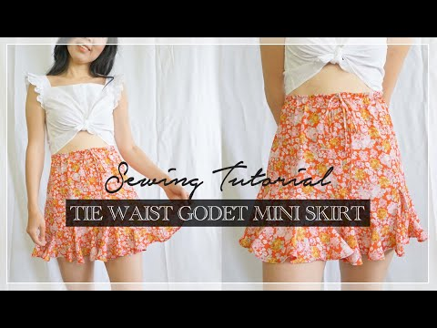 Stella Skirt Tutorial | DIY Tie Waist Godet Mini Skirt