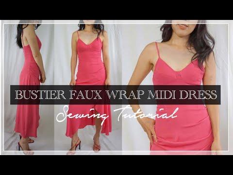 Vera Dress Tutorial   DIY Bustier Midi Dress