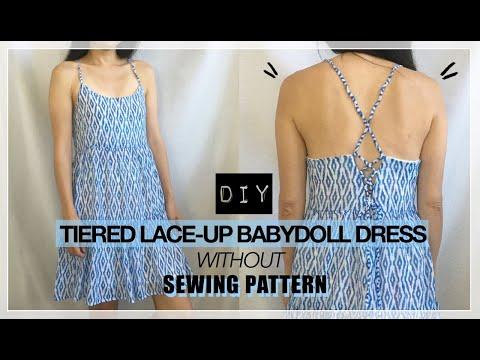 Lace Up Babydoll Dress