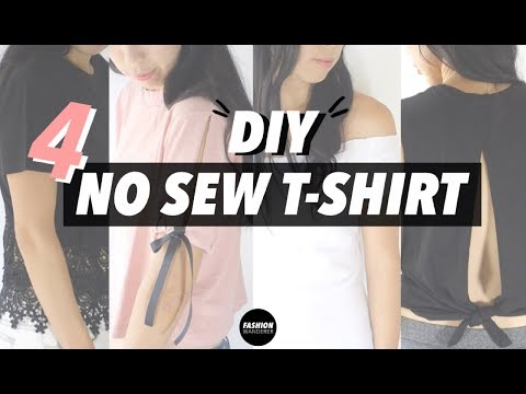 DIY T-shirt Refashion (Easy No Sew Clothes!)