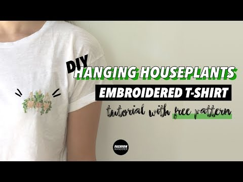 Hanging Plant DIY Embroidered Shirt Tutorial (For Beginners) | Fashion Wanderer