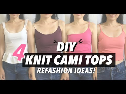 Knit Cami Top Refashion Ideas (4 Easy Upcycle Projects!)