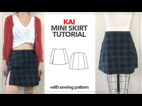 Kai Notched Mini Skirt Tutorial