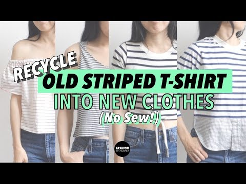 Recycle Old T shirts Into New Clothes (No Sew!)