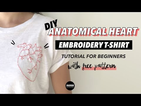 Anatomical Heart DIY Embroidered Shirt Tutorial (For Beginners) | Fashion Wanderer