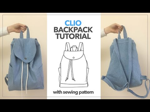 Clio Backpack Tutorial | DIY Backpack From Old Jeans