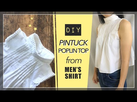 Pintuck Top From Men's Shirt