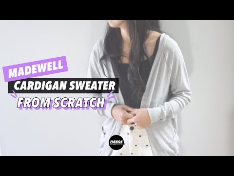 How To Make A Cardigan Sweater From Scratch (Madewell Copycat!)