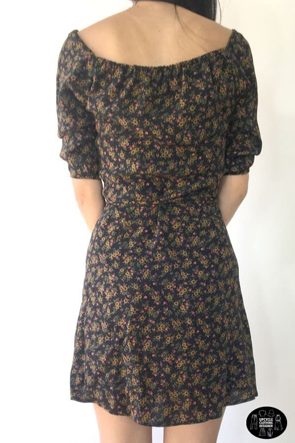 Back view of the DIY wrap dress