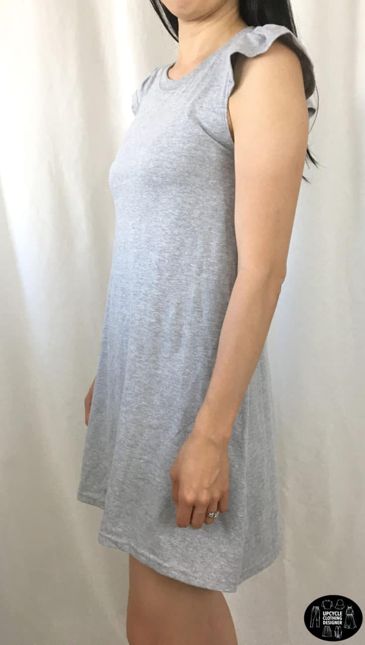 DIY racerback t-shirt dress sideview