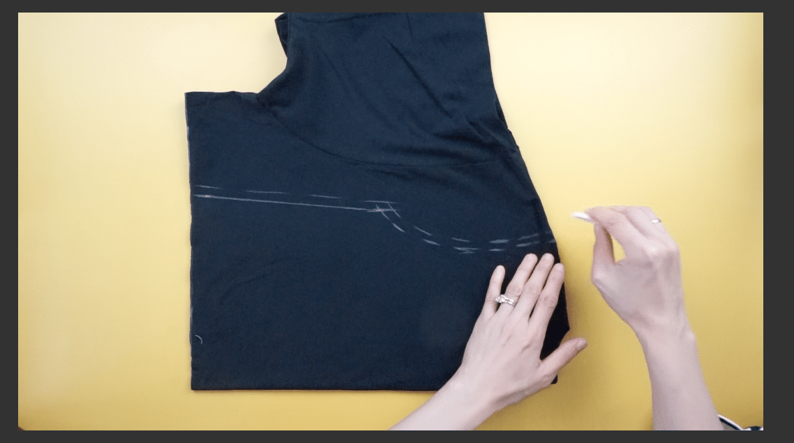 Measure and mark the top bodice with fabric chalk