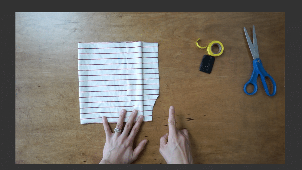 Cut a piece matching the arm opening.