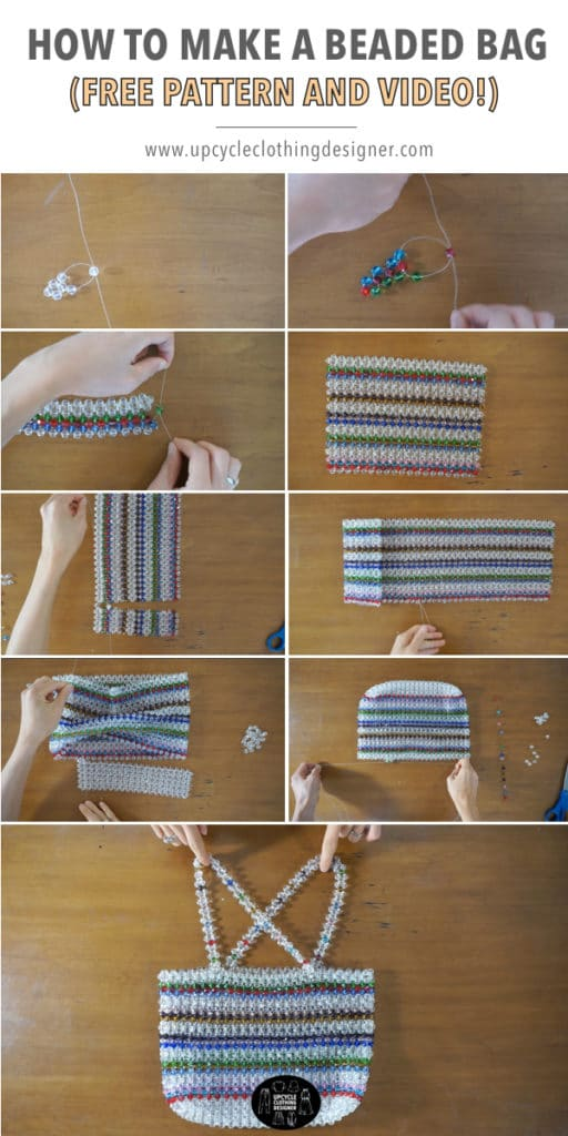 How to make a beaded bag from scratch with step-by-step photos.