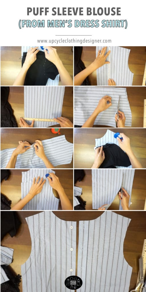 How to make a blouse from a men's dress shirt