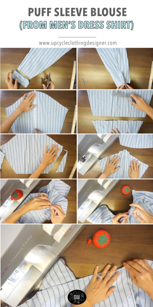 How to make puff sleeves from a men's dress shirt