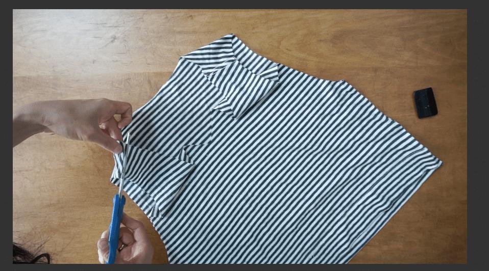 Cut the shoulder straps for the twist shoulder feature.