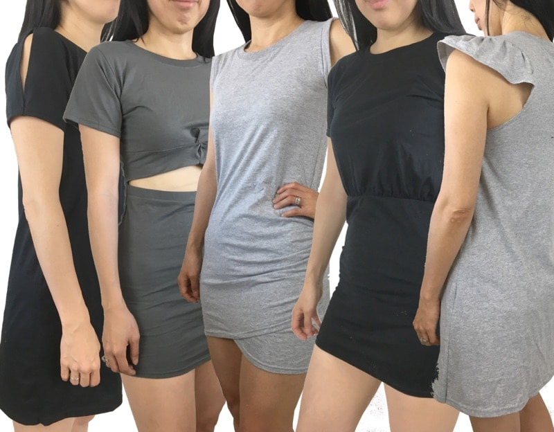 Upcycle t-shirt to dress project ideas