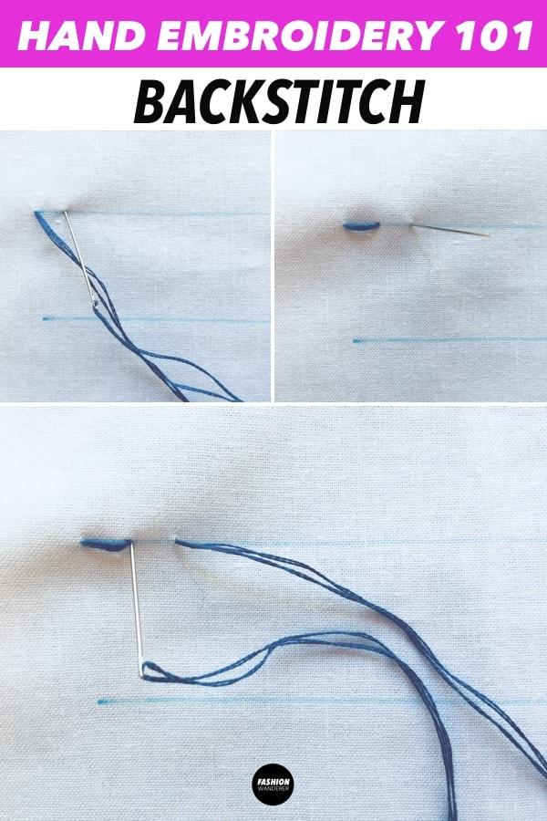 backstitch hand embroidery stitches