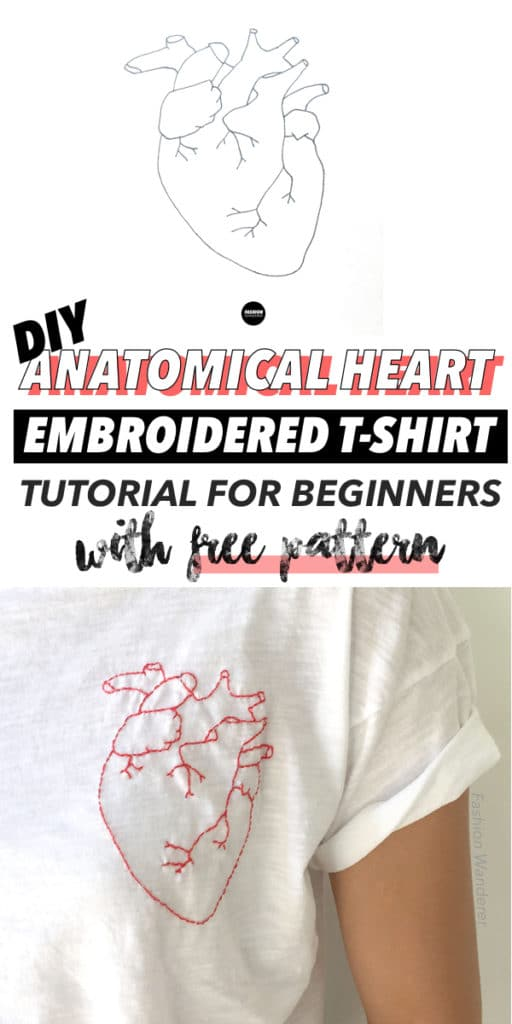diy anatomical heart embroidery tutorial