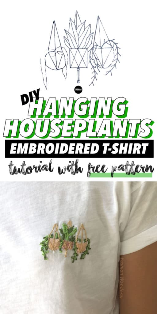 diy hanging houseplants embroidery tutorial