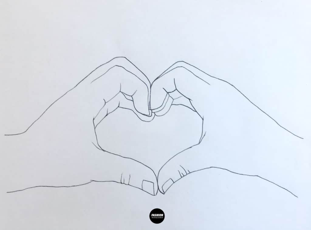 free hand heart embroidery pattern