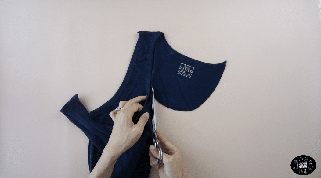 Cut the new back neckline