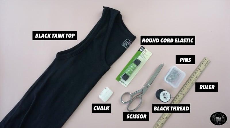 DIY high neck tank top materials