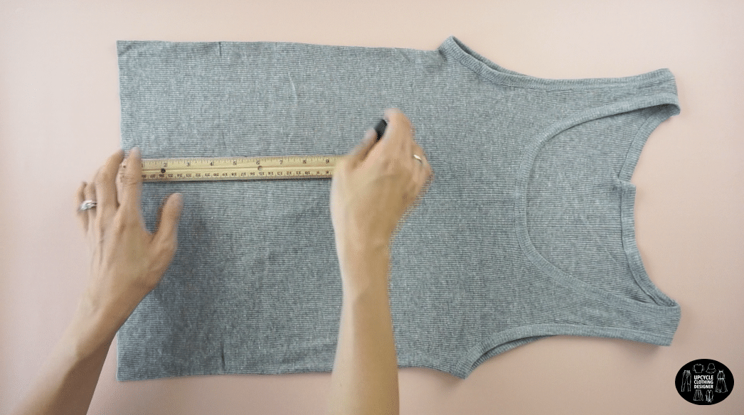 "Measure 5"" up from the hemline"