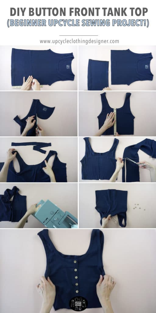 How to make a DIY button front tank top