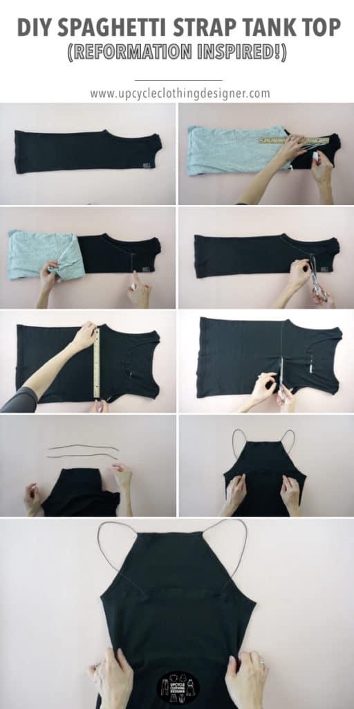 How to make a DIY high neck tank top