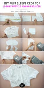 How to make puff sleeve crop top
