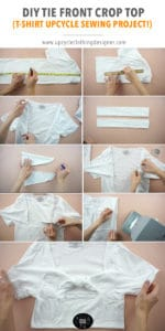 How to make a tie front crop top.