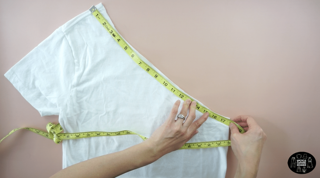 Measure the new neckline.