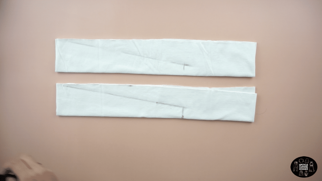 """Make 2 separate 5½"""" wide pieces for the tie front straps."""