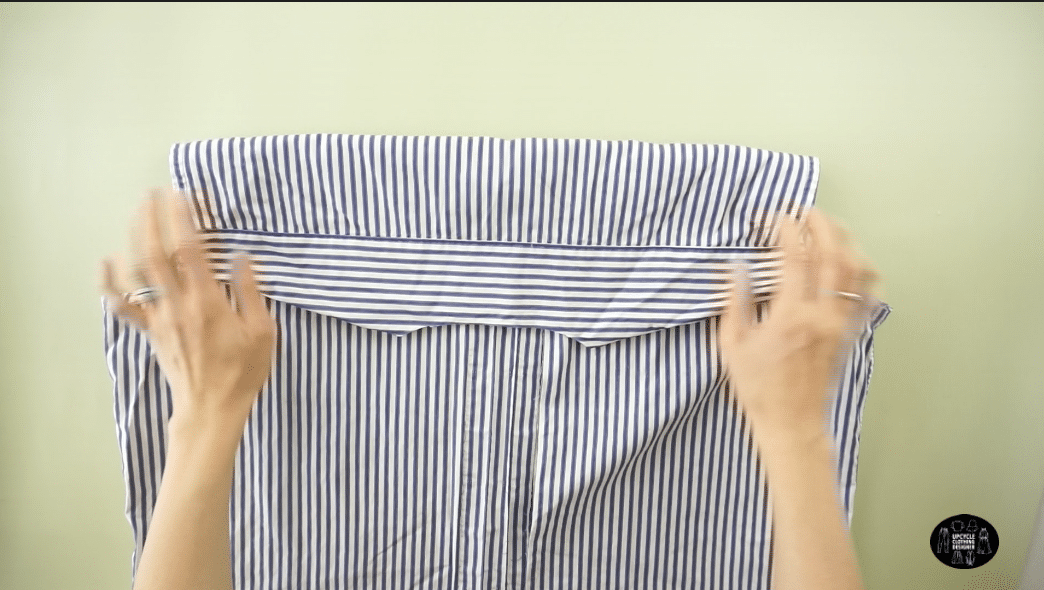 How to cut the back yoke off men's dress shirt