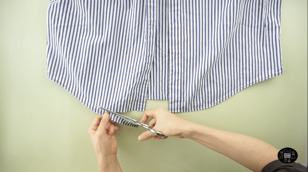 How to cut the overlock stitch off men's dress shirt