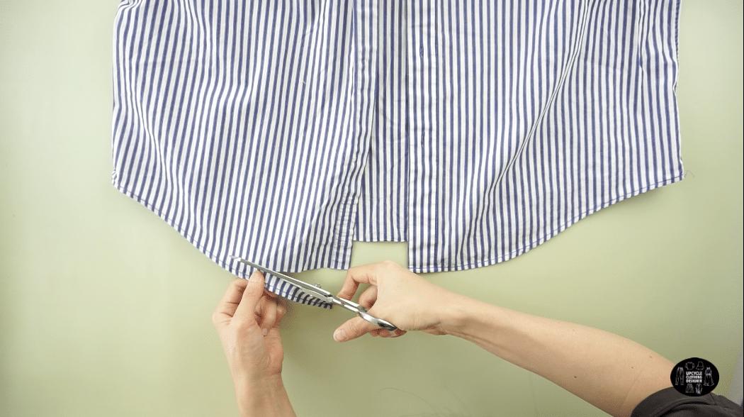 How to cut the overlock stitch off men's dress shirt