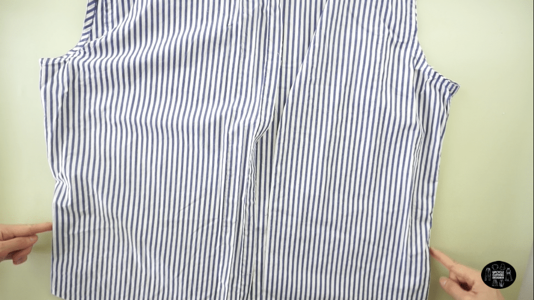 How to cut the side seams off men's dress shirt