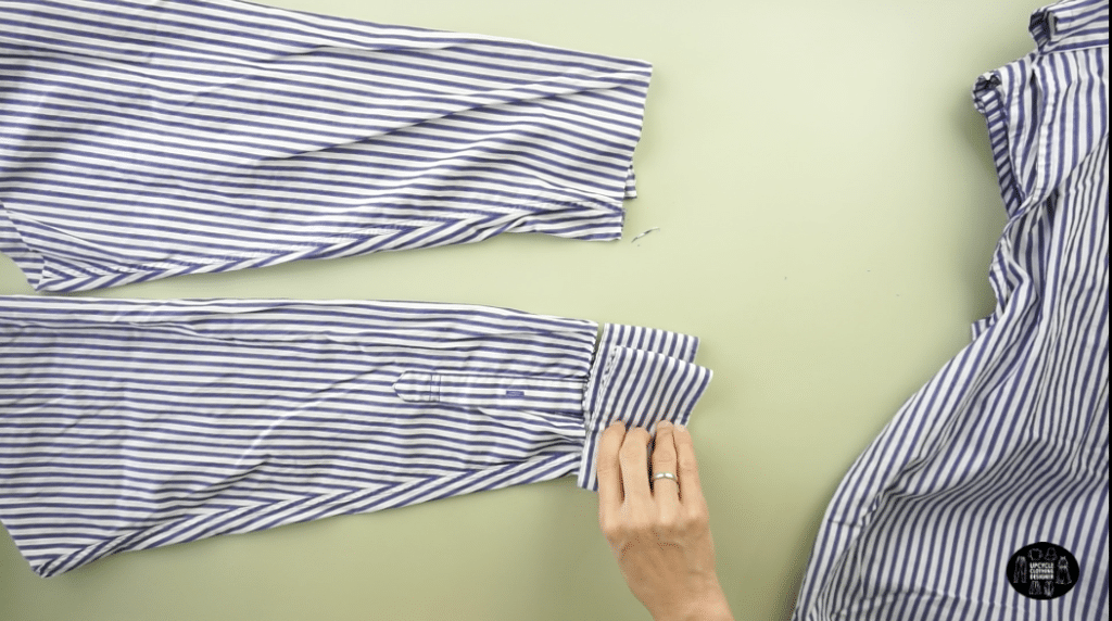 How to cut the sleeves and cuffs off men's dress shirt