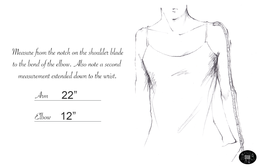 How to measure the arm and elbow length