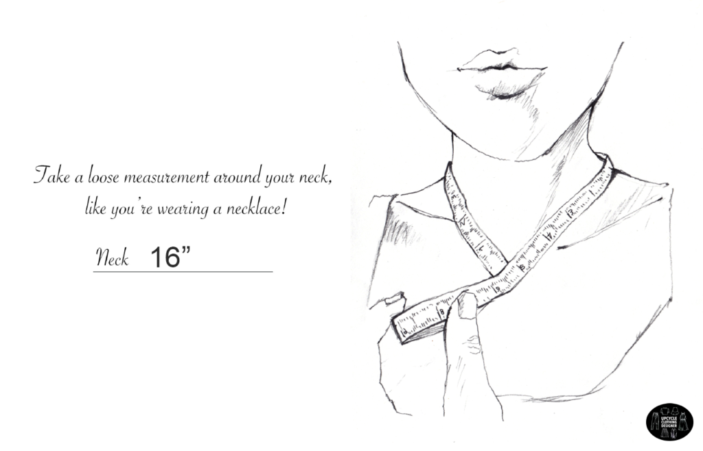 How to measure the neckline