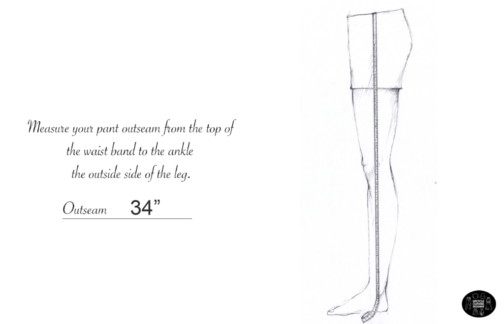 How to measure the outseam