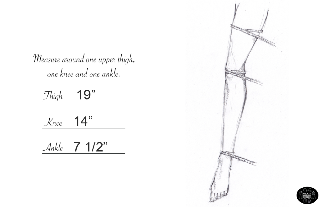 How to measure the thighs, knees and ankle