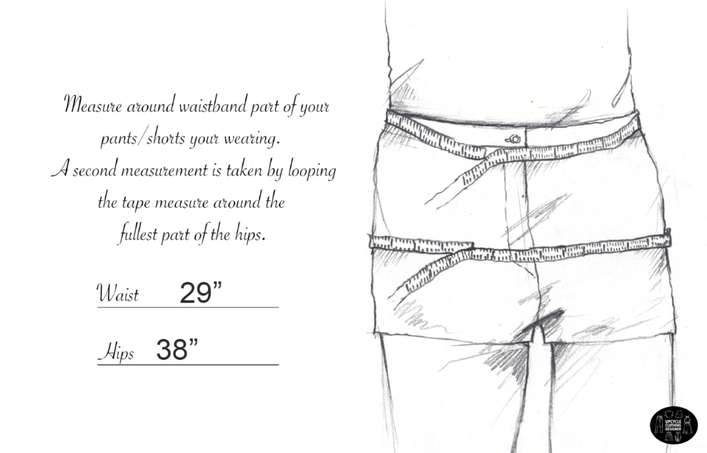How to measure the waist and hips