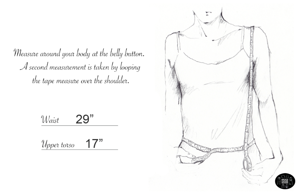 How to measure the waist and upper torso